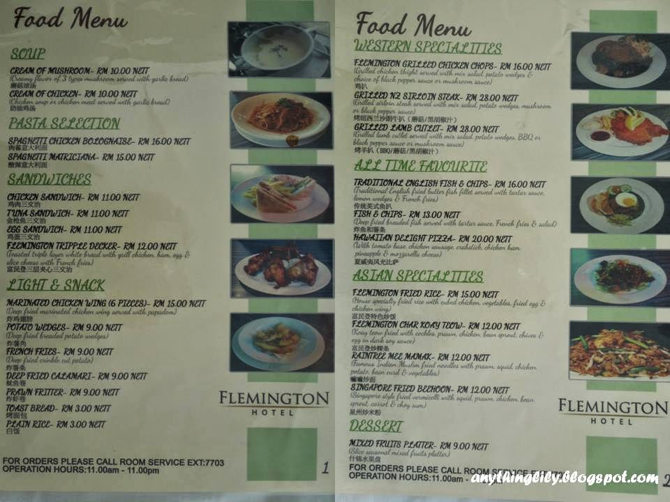 Anythinglily flemington hotel taiping photos and review for W hotel in room dining menu
