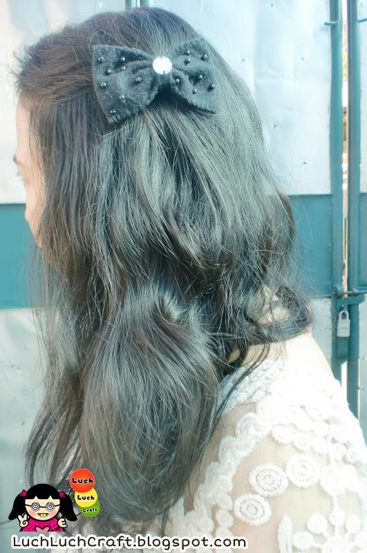Jepit Rambut Ribbon Lucu Dari Flanel
