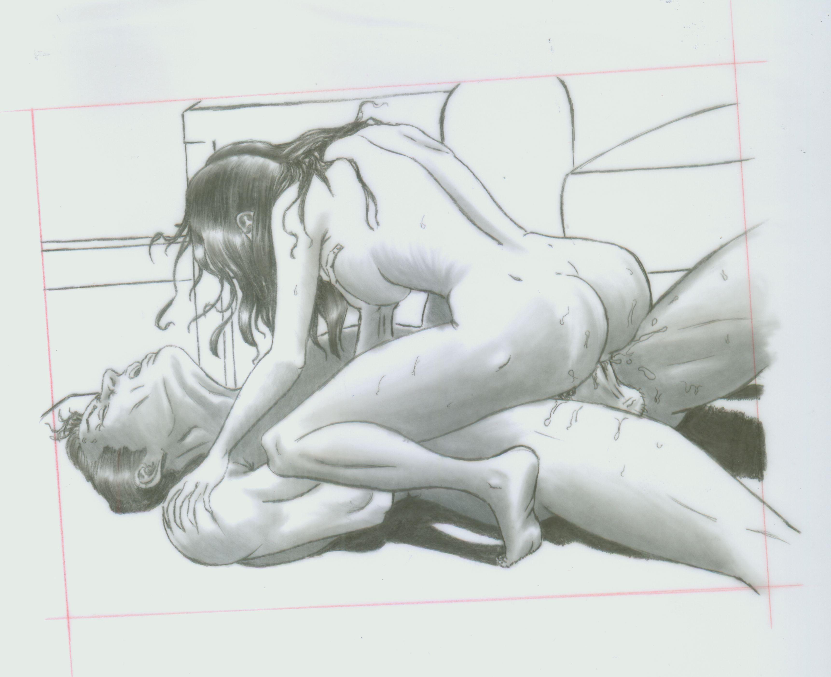 Erotic pussy art drawings