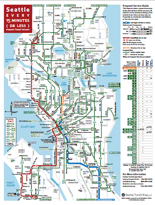 Seattle Transit Blog: 15 Minute Map
