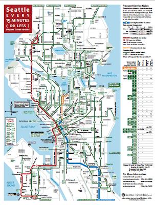 Seattle Transit Blog: 15 Minute Map