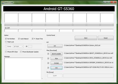 How to Flash Samsung Galaxy Y via Odin