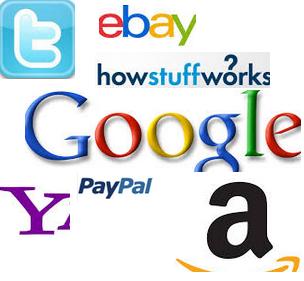 Logo of google ebay twitter amazon paypal slogan