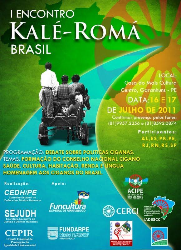 1º Encontro Kalé Rhomá Brasil - 19,20 e 21 Maio Souza - PB.