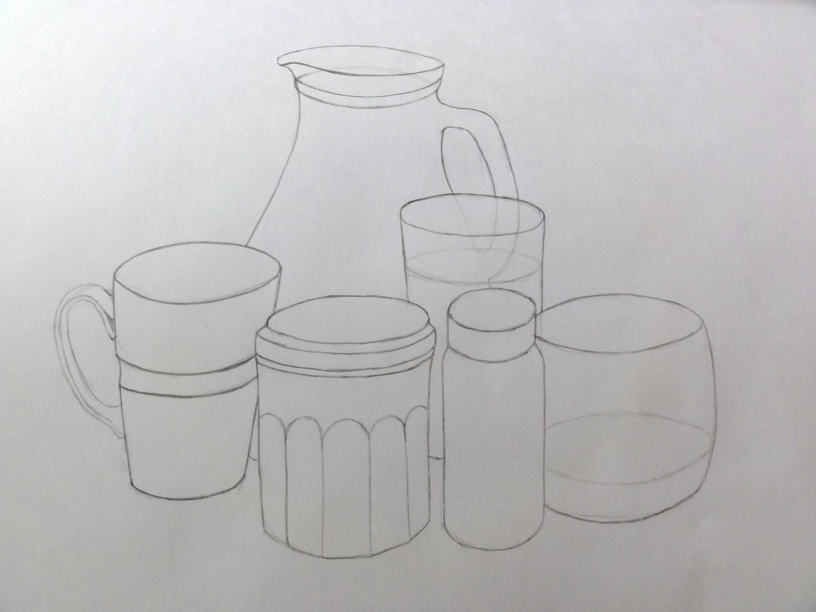 Jars Drawing Drawing The Jars And Bottles i