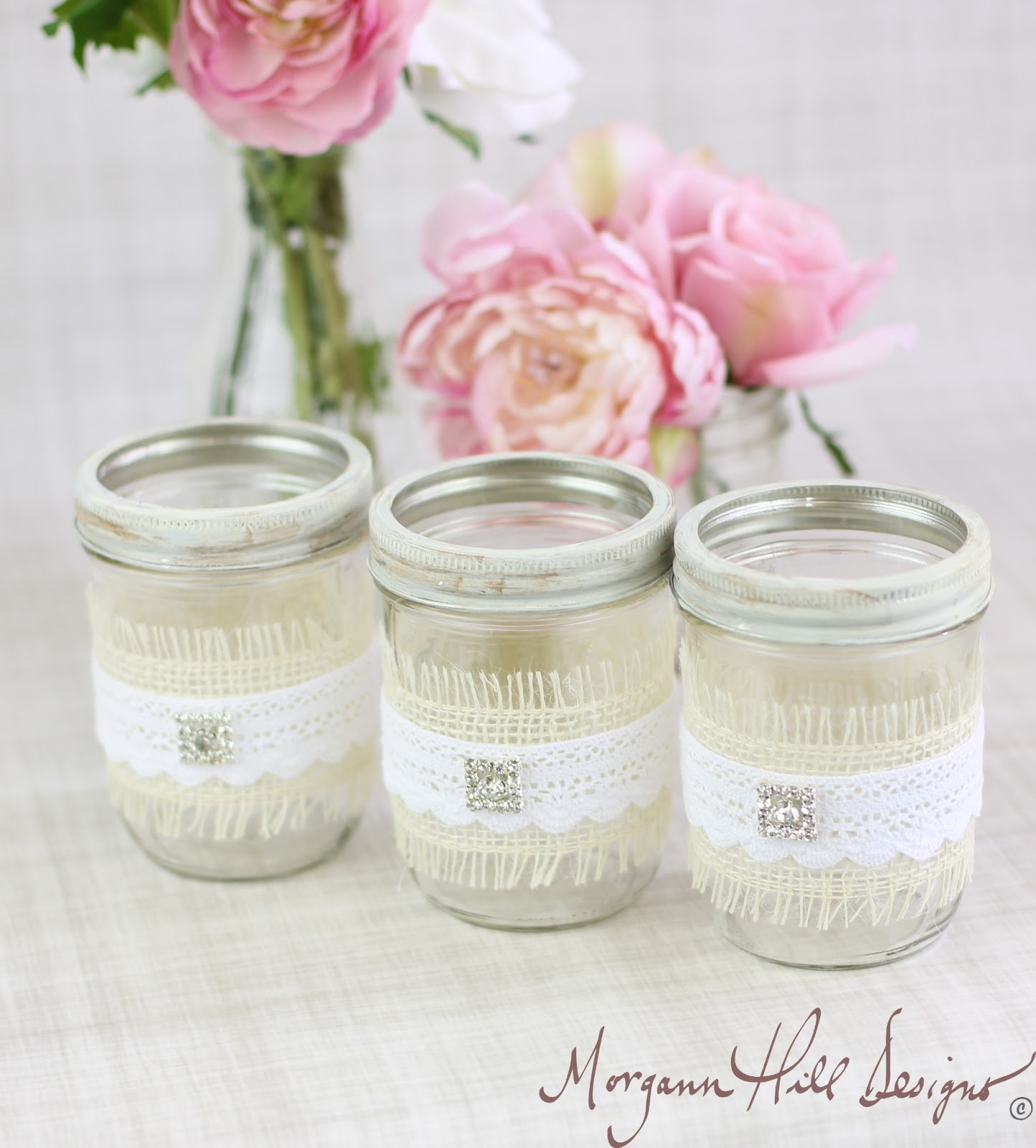 Morgann Hill Designs: Mason Jar Wedding Centerpieces Vases with ...