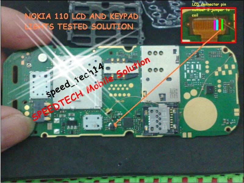 Nokia 110 Lcd and Keypad Lights Solution