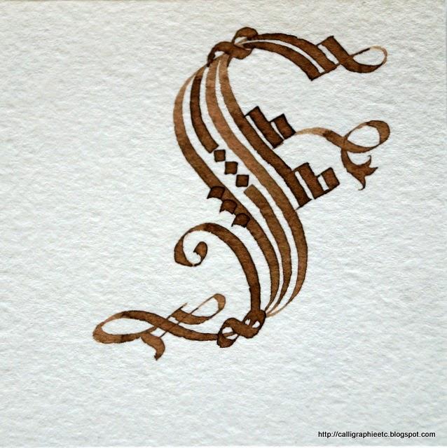 Calligraphie latine etc une lettre par semaine - Experte en composants 15 lettres ...
