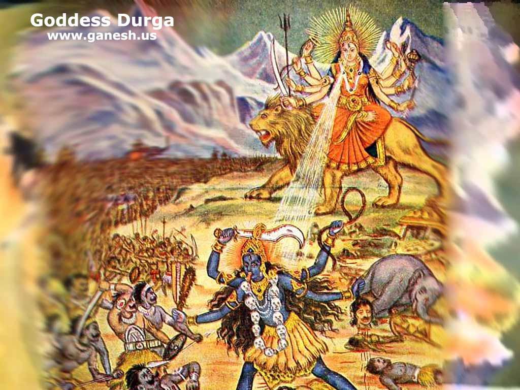Free Wallpapers Navratri Greetings Pics Images Photos Durga Matha