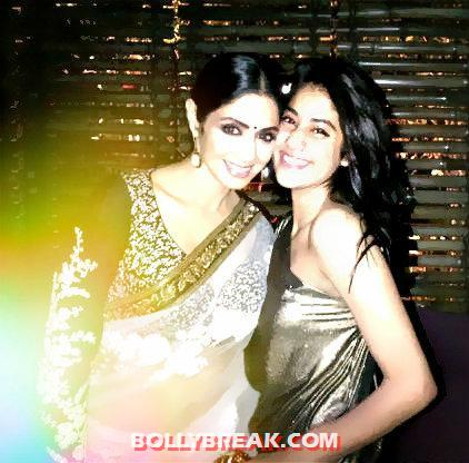 Sridevi with jhanvi kapoor - (2) -  Sridevi's Twitter Pictures with Daughters & Family