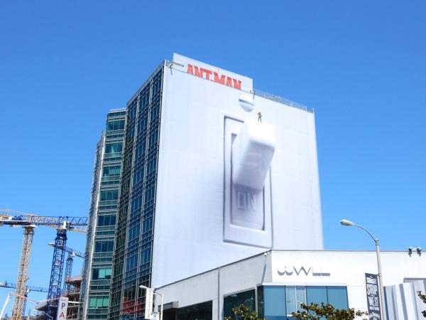 Giant Marvel AntMan light switch billboard