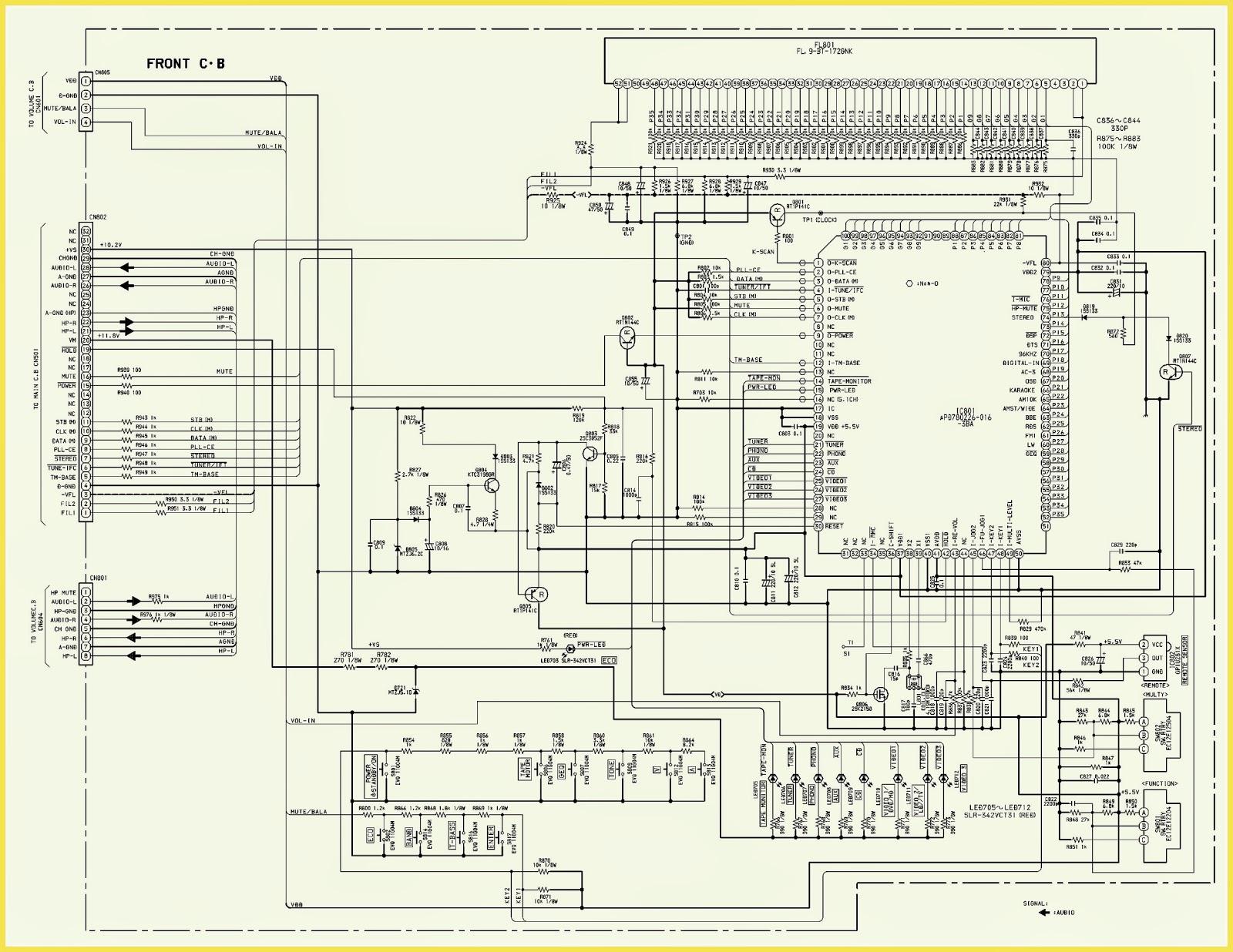 Radio Av Receiver Circuit Diagram Just Another Wiring Blog Intercom Schematic Aiwa S17u Stereo Power Front Rh Electronicshelponline Blogspot Com Am Hf