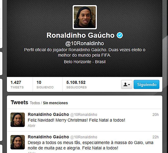 Ronaldinho celebrando la Navidad