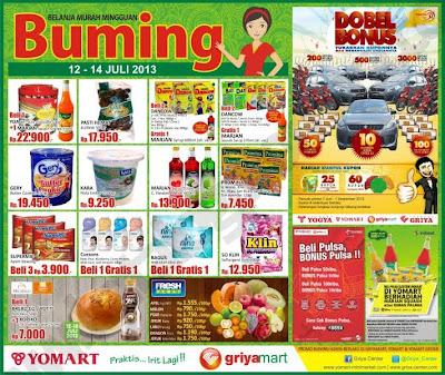 Katalog/Daftar harga promo Yomart minggu ini 12 – 14 Juli 2013