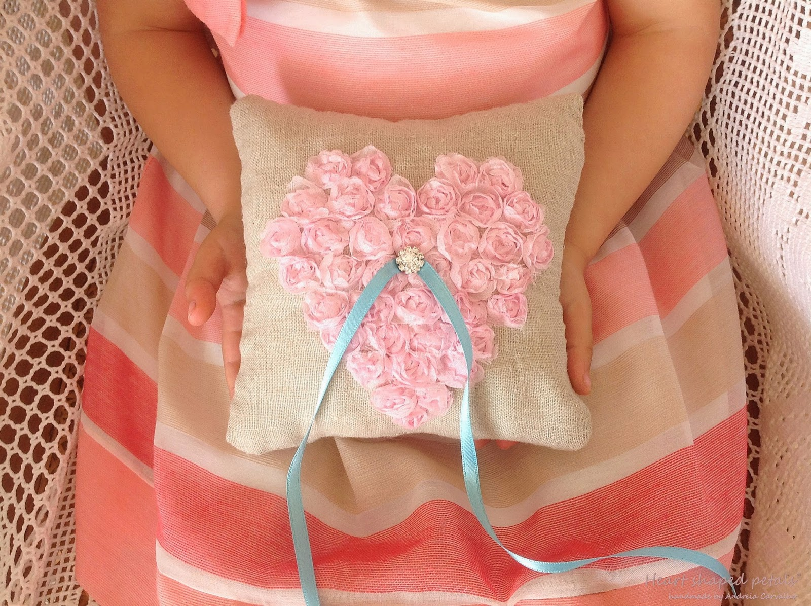 ring bearer pink heart