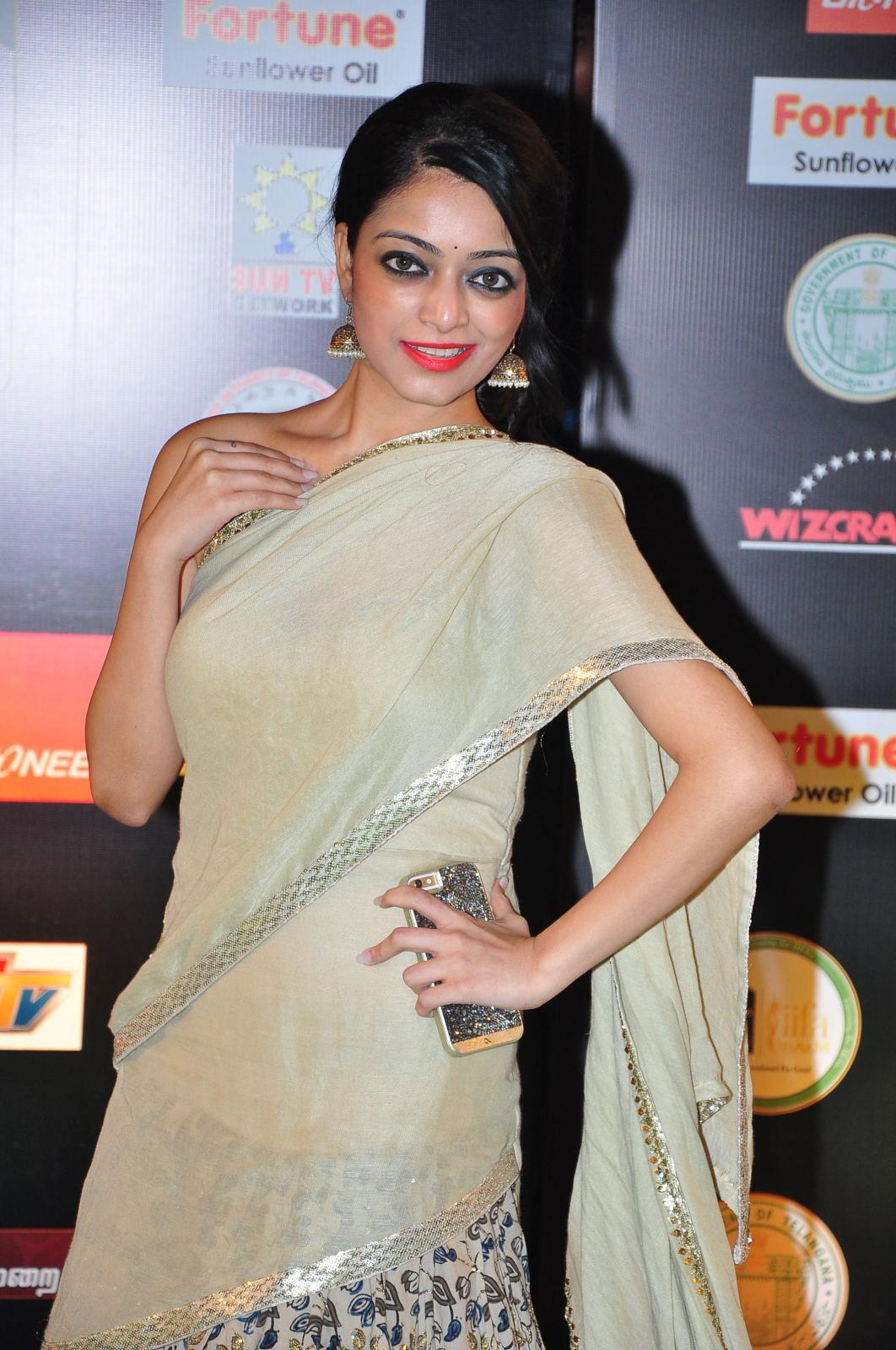janani iyer glamorous in saree-HQ-Photo-3