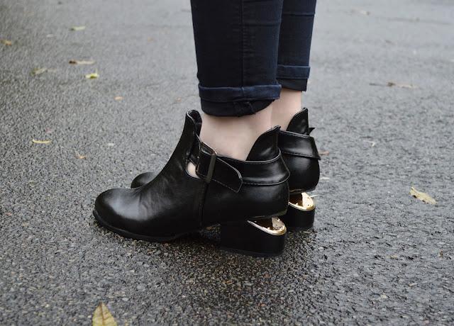 Sammi Jackson - Cutout Heel Booties