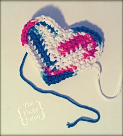 free crochet heart pattern by redheart for sachet ornaments