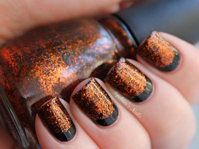 Halloween Ruffian Nails China Glaze Ick-A-Bod-Y