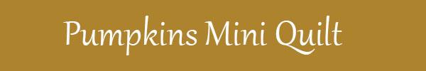 Mini quilt de calabazas