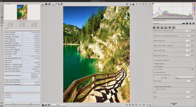 برنامج مجانى مميز لتحرير وتحسين ومعالجة الصور لنظام ويندوز ولينكس وماك Raw Therapee 32,64 Bit 4-0-11-32
