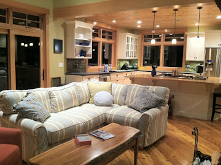 living room in new custom home in new hampshire
