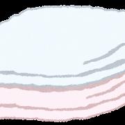 お風呂のイラスト「バスタオル」