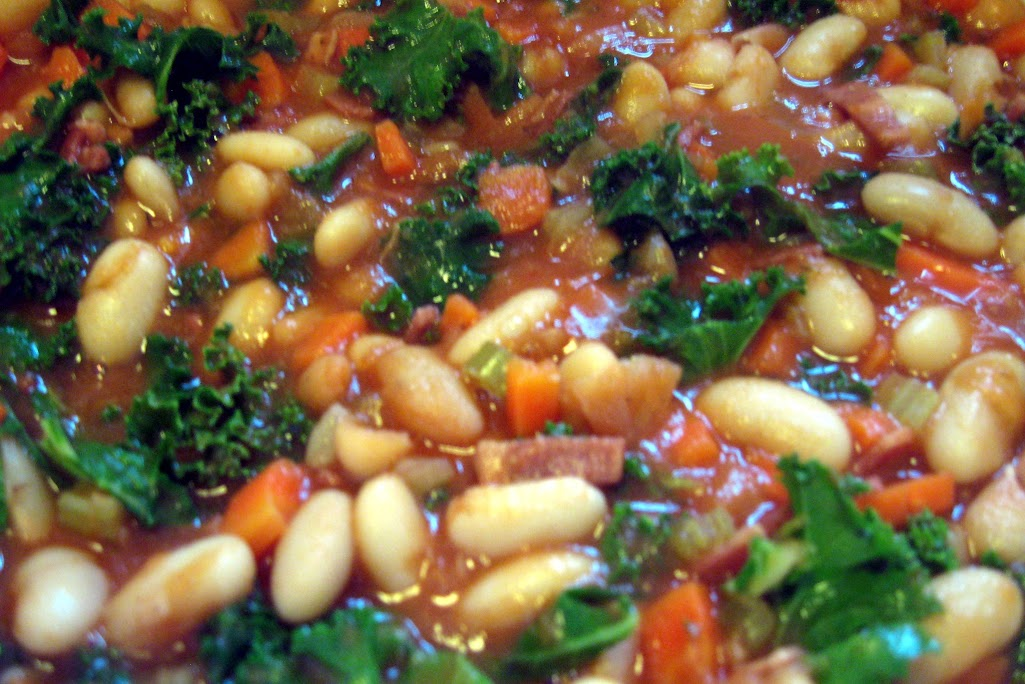 Healthier Bean with Bacon Soup