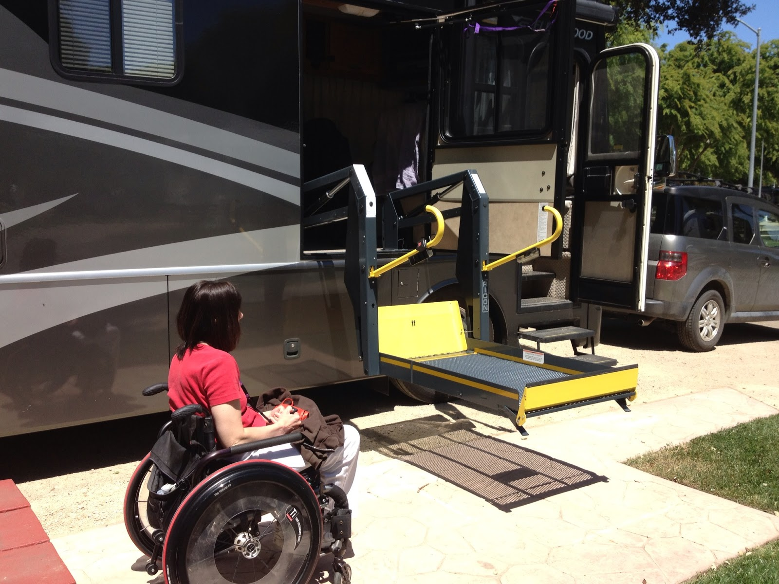 Perfect RV Handicap Lift Being Installed