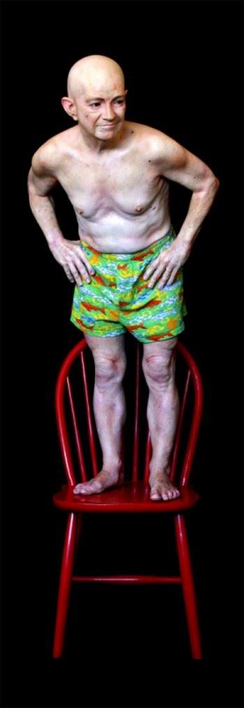 Marc Sijan esculturas hiper-realistas em tamanho real de pessoas bizarras