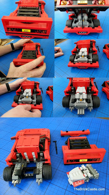 Removeable back end LEGO Ferrari F40 set 10248