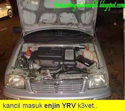 starting automobil convert enjin daihatsu yrv ke perodua