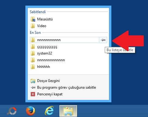Windows 8.1 Sık Ziyaret Ettiğiniz Dosyaları İşaretleme