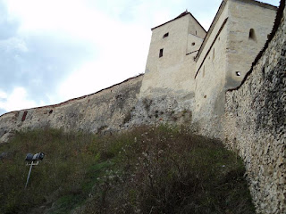 Northern wall of the citadel Rasnov