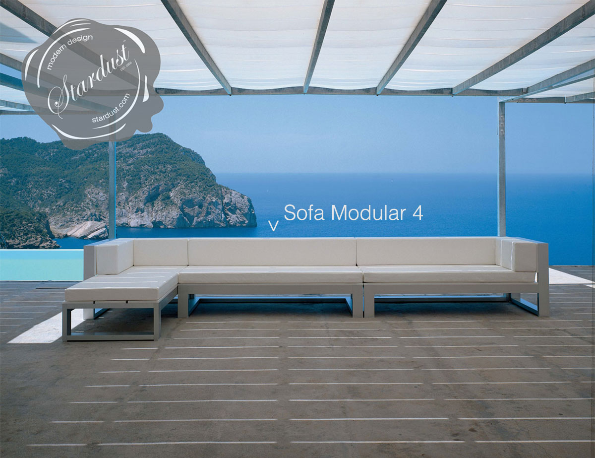 Modern Outdoor Lounge Sofa: Gandia Blasco Na Xemena Sofa Modular 4   Modern  Outdoor Lounge Furniture