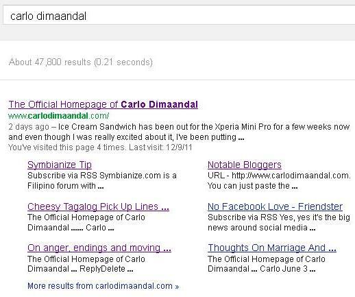 Carlo Dimaandal Site Links