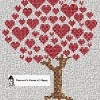 heart tree valentine cross stitch chart