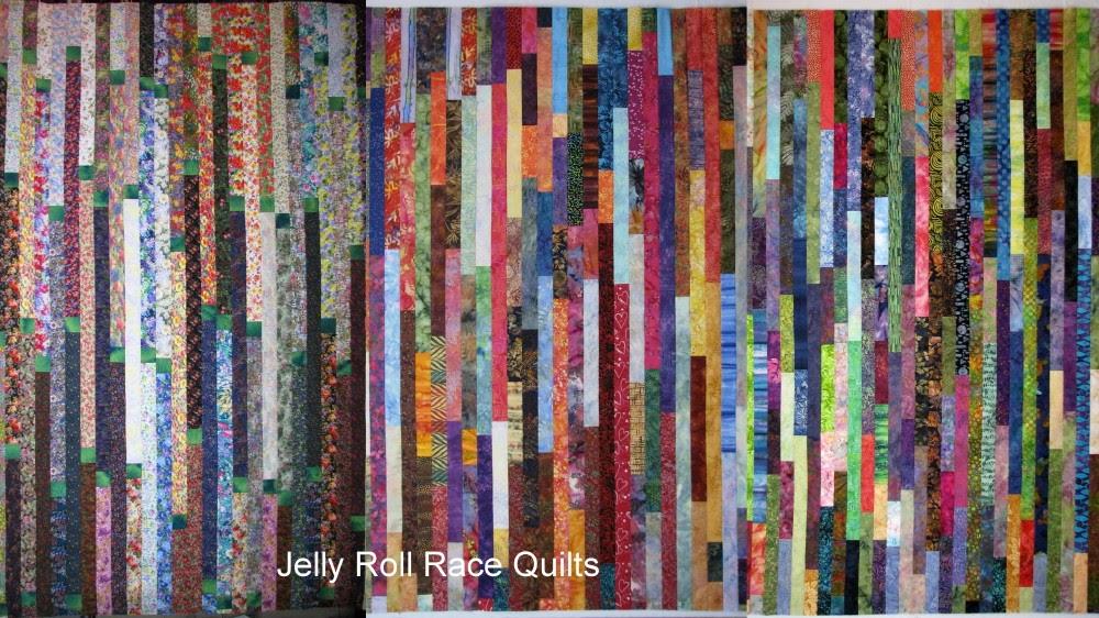 Exuberant Color Jelly Roll Race A K A Random Plank Quilt
