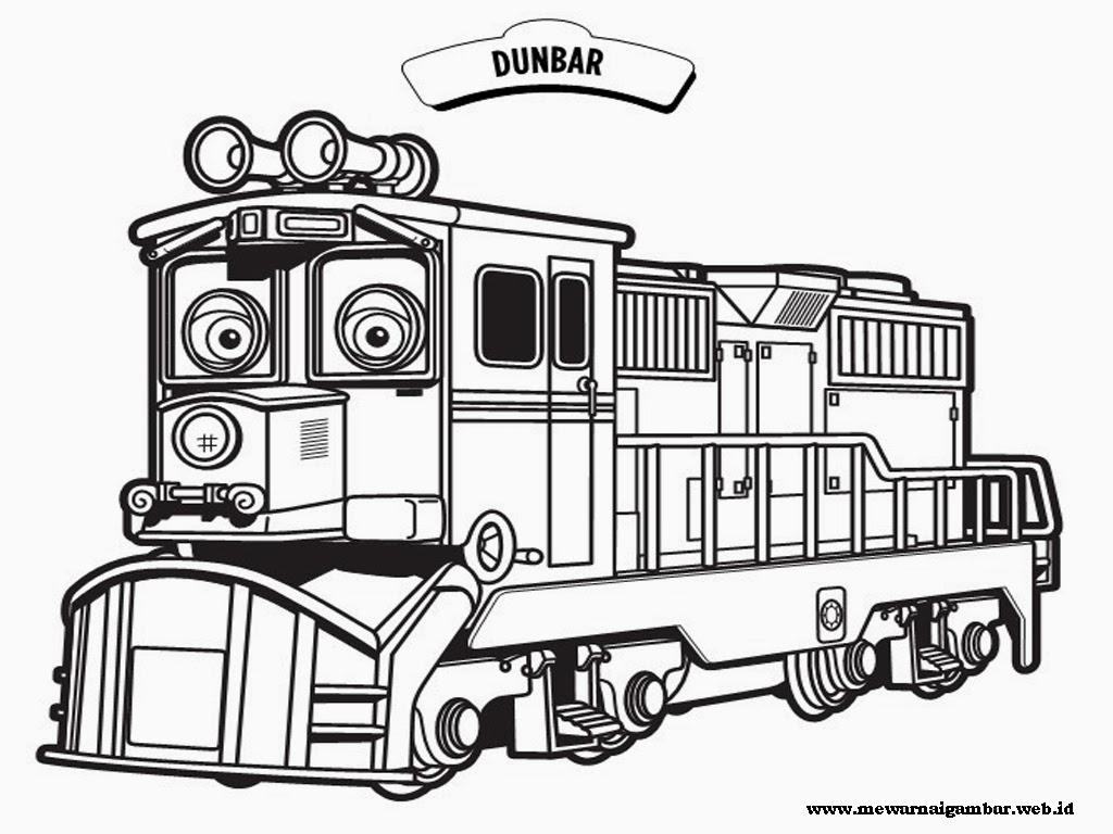 gambar kereta chuggington untuk mewarnai