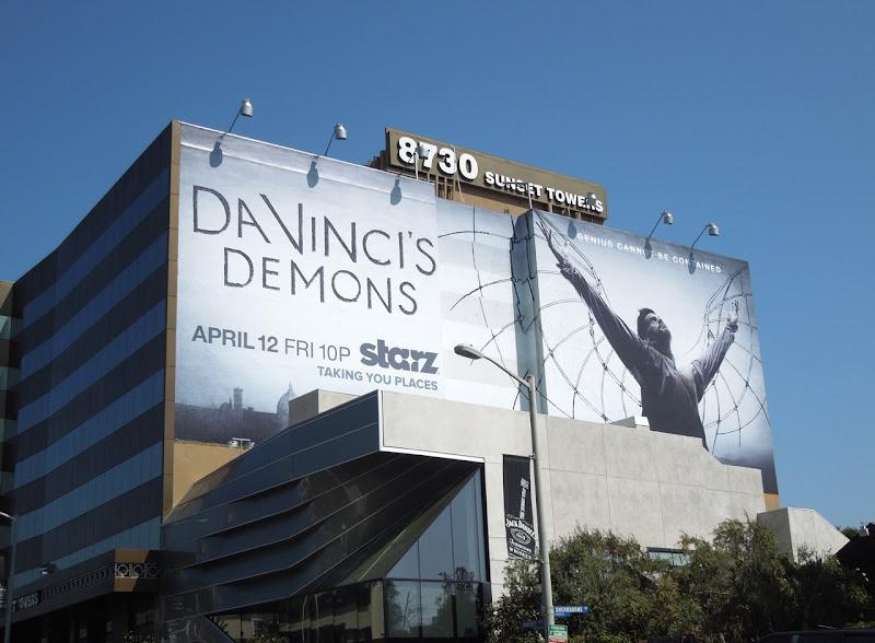 DaVincis Demons Starz billboard