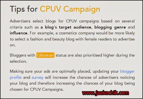 BE/CPUV nuffnang, cara nak dapat BE/CPUV, cpuv nuffnang, earning iklan cpuv, Ciri-ciri blog untuk dapat iklan CPUV Nuffnang, buat duit dengan nuffnang,