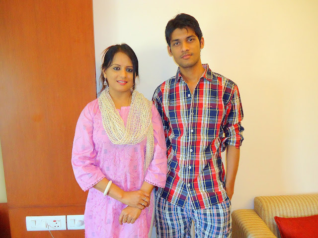 Anshu Dikshant with Bhojpuri Actress Sangita Tiwari