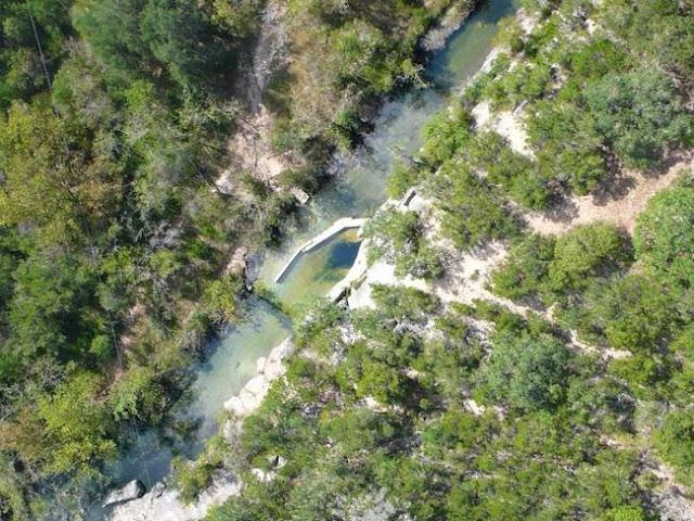 El pozo de Jacob en Wimberley, Texas