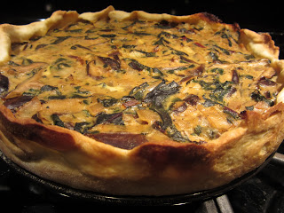 Red Chard Mushroom Tart Vegetarian