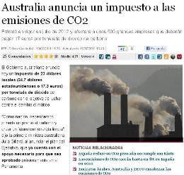 AUSTRALIA ANUNCIA UN IMPUESTO A LAS EMISIONES DE CO2