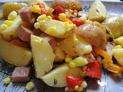 potato, corn and sausage potato salad