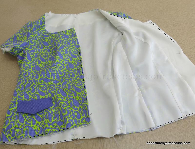 aplicar el forro a una prenda de vestir