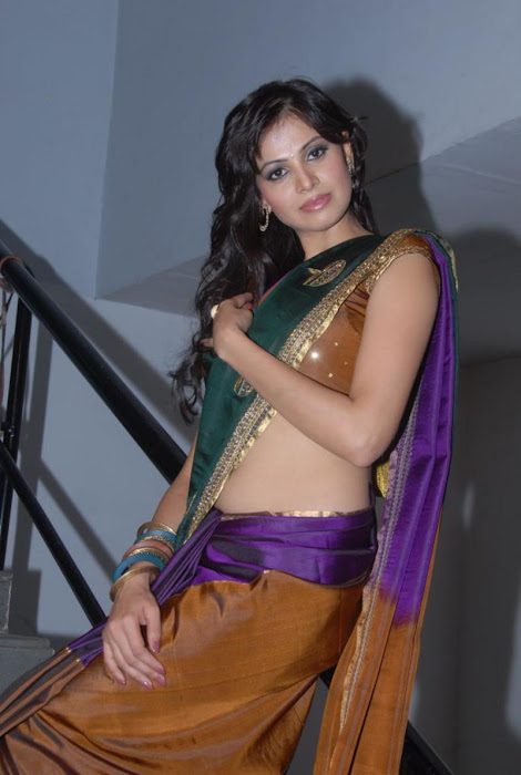 supriya shailaja new half saree , latest photos