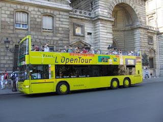 Bekijk Parijs vanuit een Paris l'OpenTour dubbeldekker bus