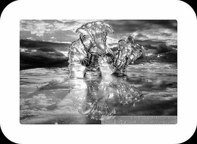 Abstract Photo 3390 Crystal Landscape 192  El caballero sin camino - The knight without path